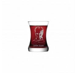 Matiz Atatürk Siluetli Çay Bardağı