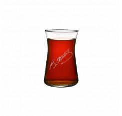 K. Atatürk Heybeli Çay Bardağı