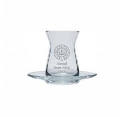 MEB Logolu İnce Belli Çay Bardağı