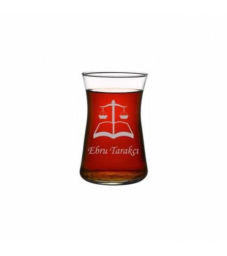 Avukata Heybeli Çay Bardağı