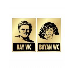 Bay & Bayan WC Levhası