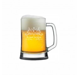 Viking Harf ve İsim Yazili Bira Bardağı